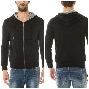 Armani Sweatshirt Jacket Men Reversible Zip Hoodie